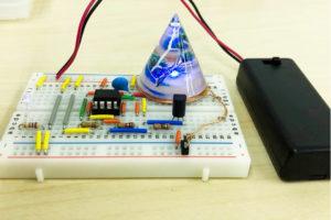 完成見本:ブレッドボードのコイル版から給電
