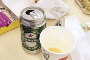 写真:空いたビール